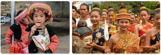 People in Laos