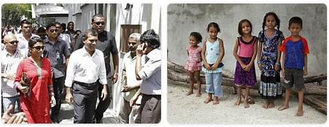 People in Maldives