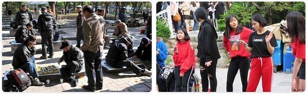 People in South Korea